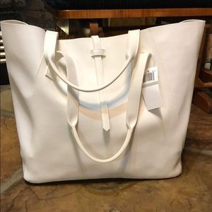 Saks Fifth Avenue faux leather tote
